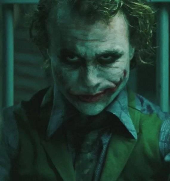Heath Ledger as The Joker in The Dark Knight
