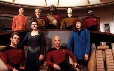 Main cast of Star Trek The Next Generation