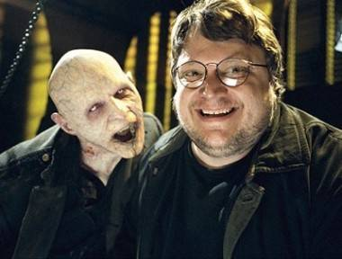 Guillermo del Toro and friend for The Strain