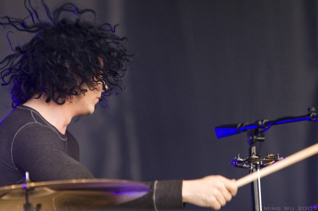 Jack White with The Dead Weather at the Ottawa Bluesfest photo