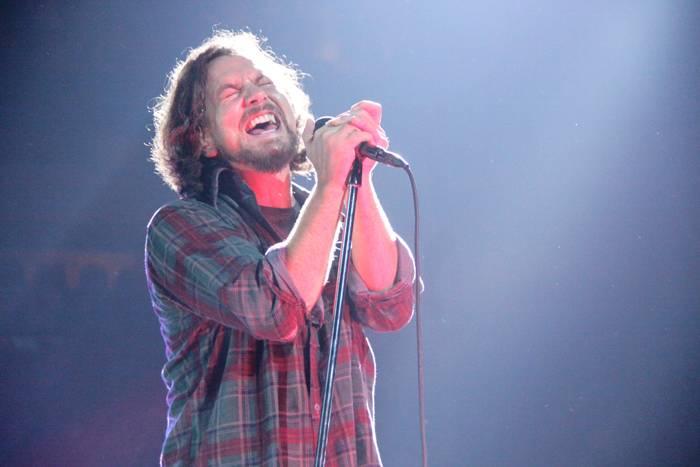 Eddie Vedder with Pearl Jam in Vancouver concert photo