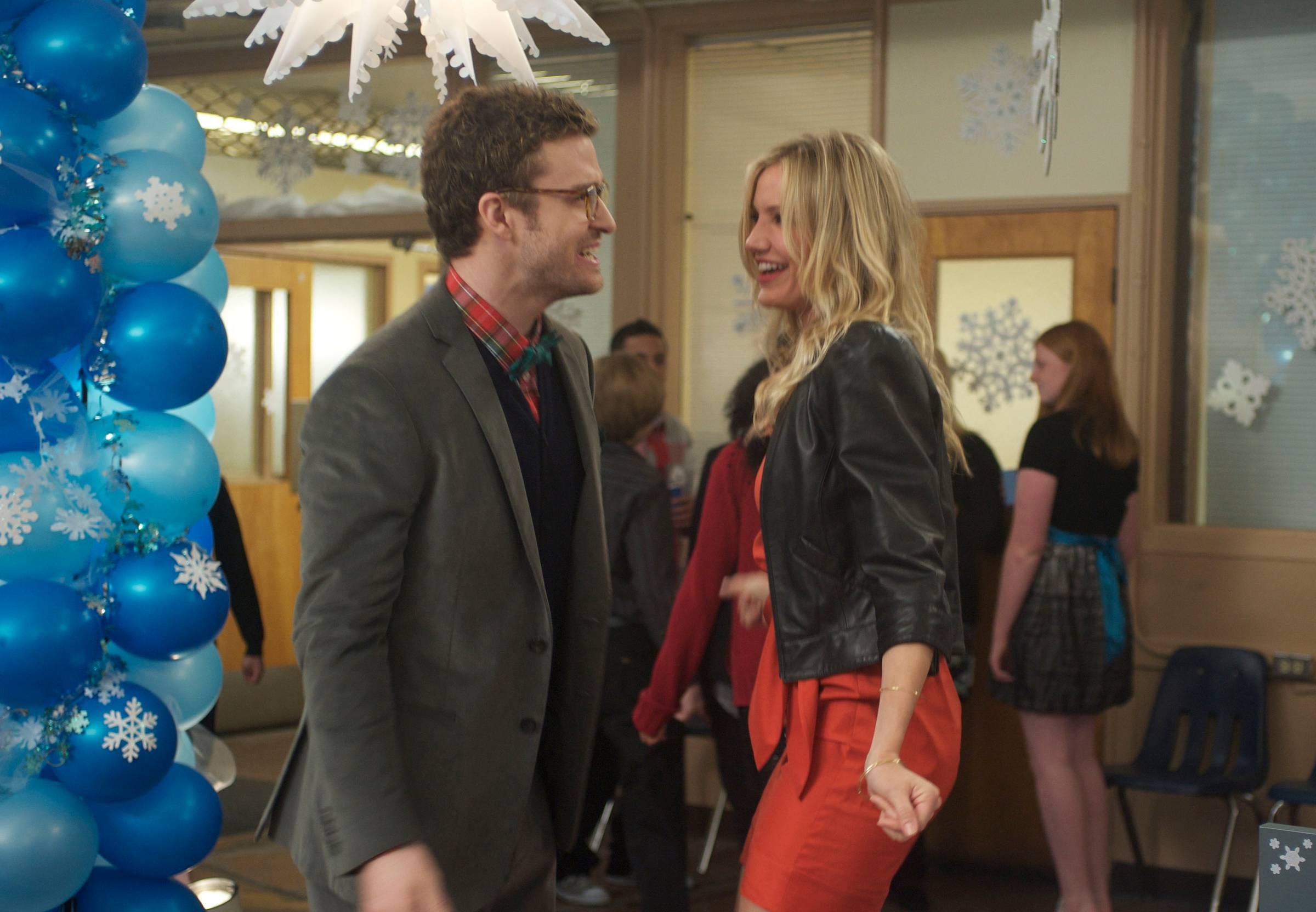 """Justin Timberlake and Cameron Diaz in Columbia Pictues' comedy """"Bad Teacher."""""""
