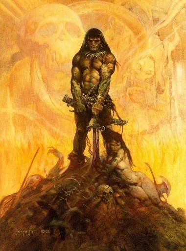 Conan the Adventurer by Frank Frazetta.
