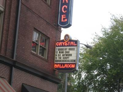The Crystal Ballroom, Portland, Oct 8 2010.