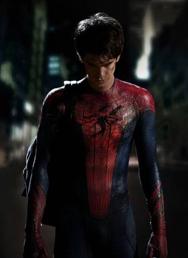 Andrew Garfield as Spider-Man.