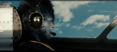 The Beast flies a plane in X-Men: First Class.