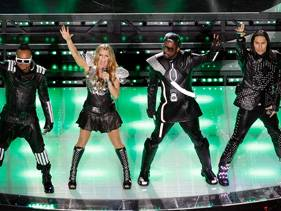 Black Eyed Peas Superbowl halftime show photo Getty Images