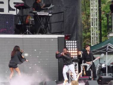 Black Eyed Peas at Bumbershoot 2009, Seattle. Simon Kear photo