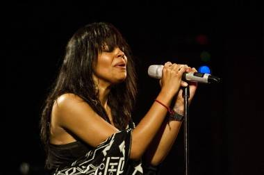 Fefe Dobson at the Vogue Theatre, Vancouver, April 16 2011. Jade Dempsey photo