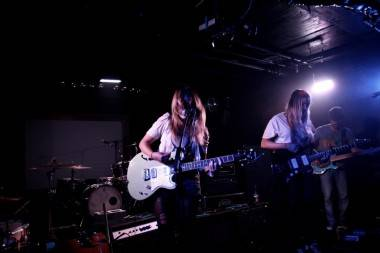 Jasmine White-Glutz and Laura Lloyd with No Joy at Biltmore Cabaret, Vancouver, May 7 2011. Anja Weber photo