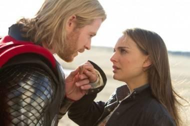 Thor Hemsworth Portman movie image