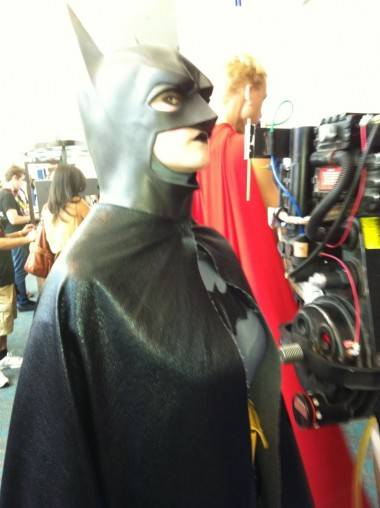 Female Batman at San Diego Comic-Con July 23 2011.