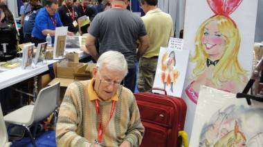 Playboy cartoonist Doug Sneyd, at the 2011 San Diego Comic-Con July 21 2011.