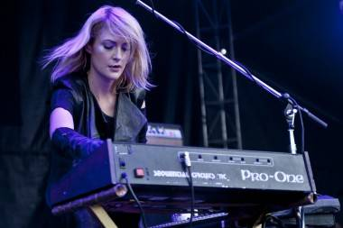 Emily Haines with Metric Live at Squamish Aug 21 2011. Anja Weber photo