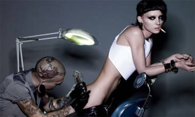 Rooney Mara as The Girl With the Dragon Tattoo.