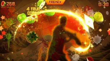Fruit Ninja Kinect image.