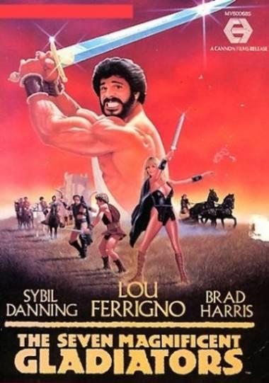 Seven Magnificent Gladiators poster art