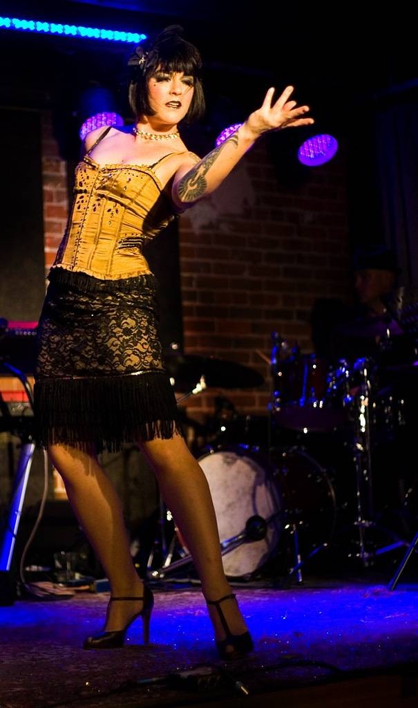 Vancouver burlesque dancer Lola Frost at Night Owl Revue