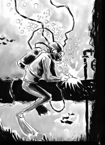 Jeff Lemire's Underwater Welder art.