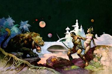 Frank Frazetta painting John Carter