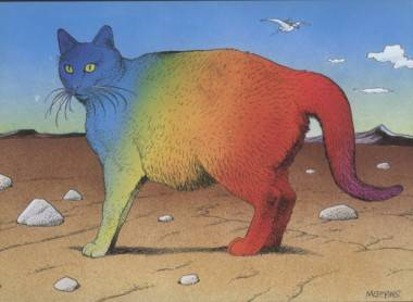 Cat illustration by Moebius