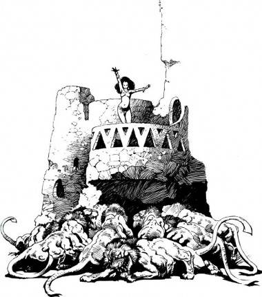 Warlord of Mars Frazetta Banth Tower