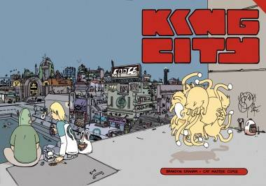 King City graphic novel cover by Brandon Graham.