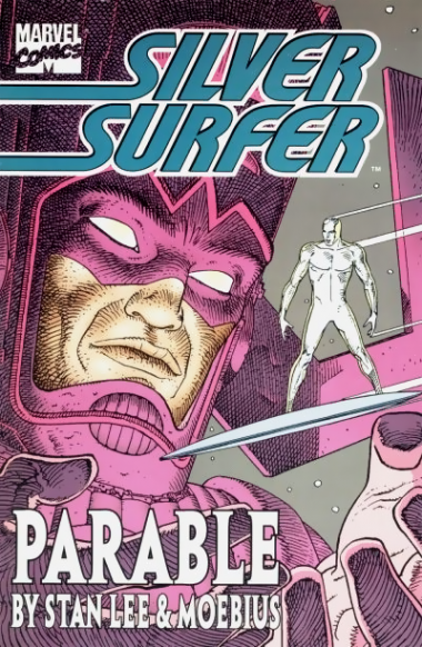Silver Surfer comic book cover by Moebius