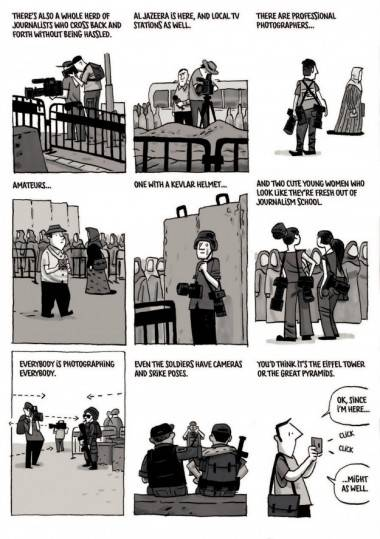 Jerusalem graphic novel interior art guy Delisle