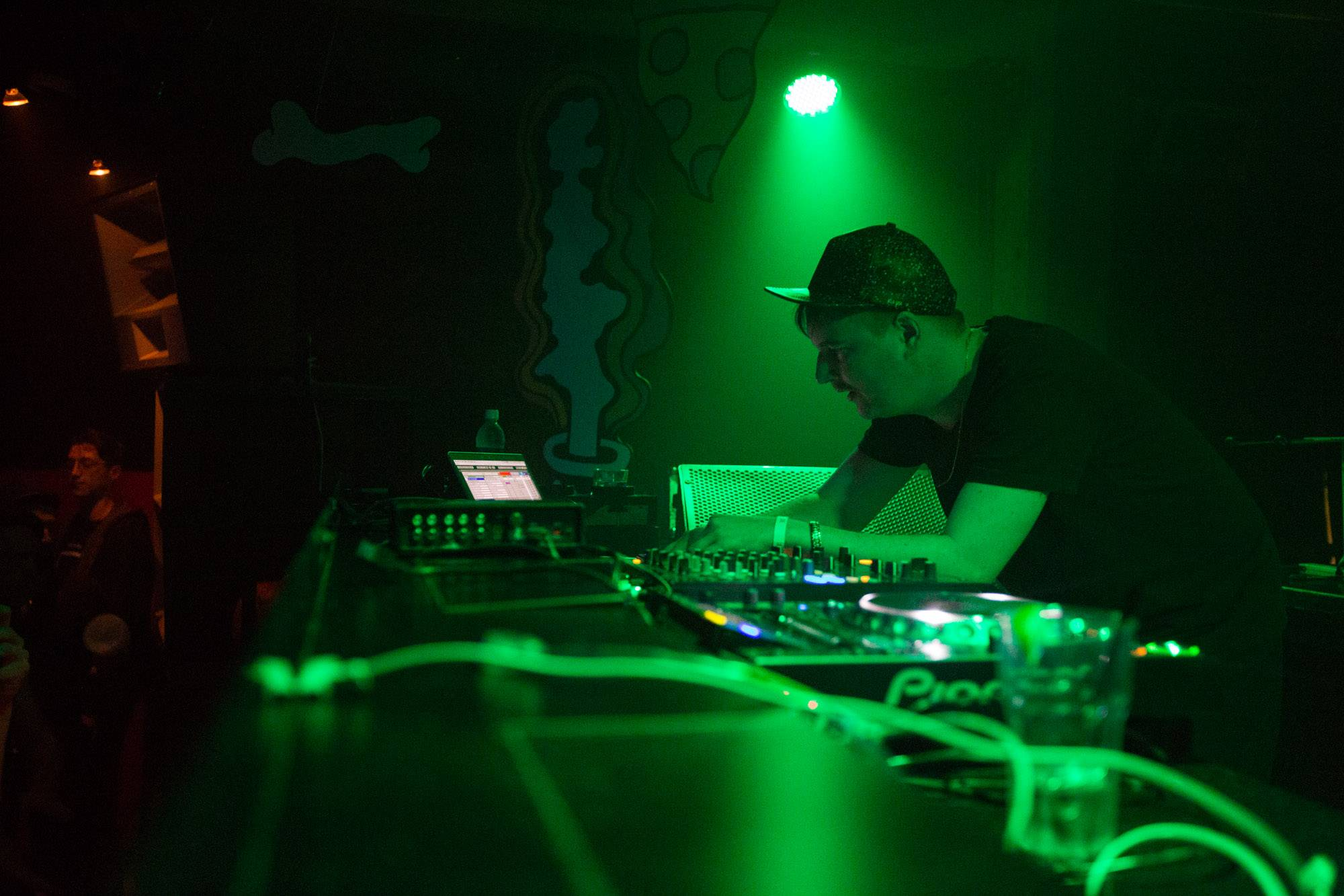 Machinedrum at Fortune Sound Club, Vancouver, Oct 29 2015. Kirk Chantraine photo.