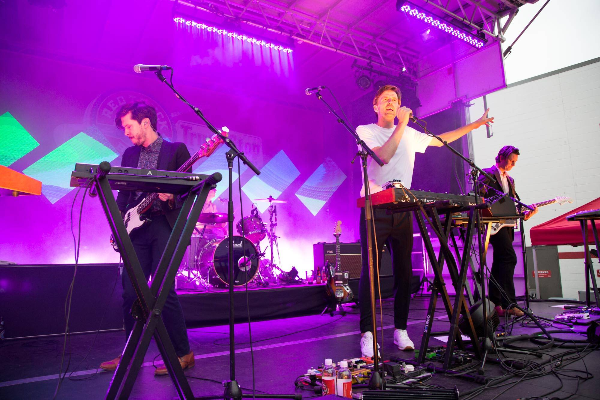 Cut Copy at the 2017 Truck Stop Concert Series, Vancouver, Jun. 17 2017. Kirk Chantraine photo.