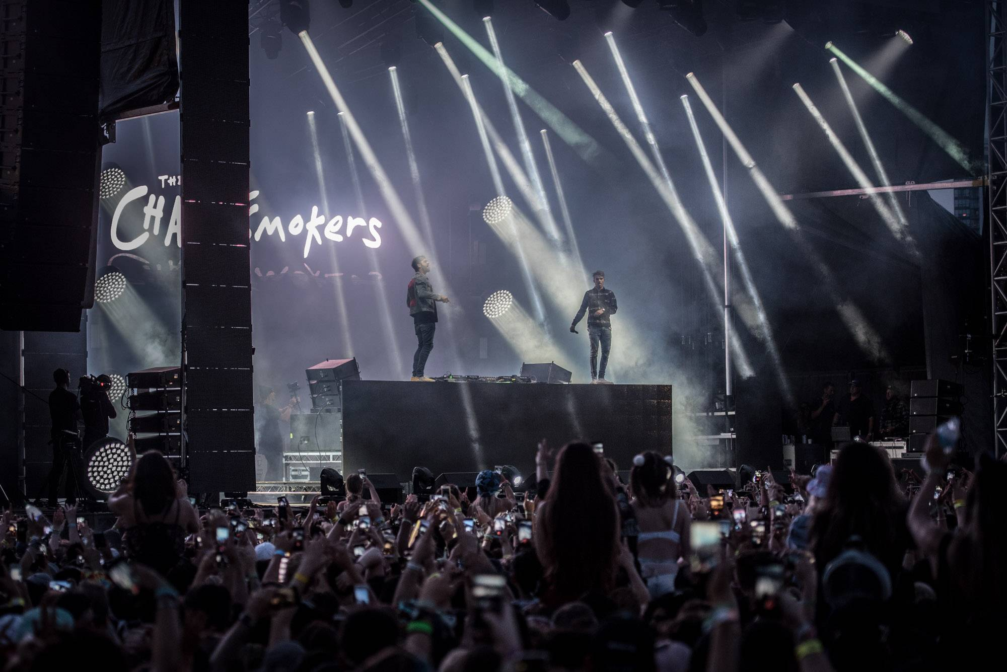 Chainsmokers at Fvded in the Park, Surrey, July 8 2017. Jason Martin photo.