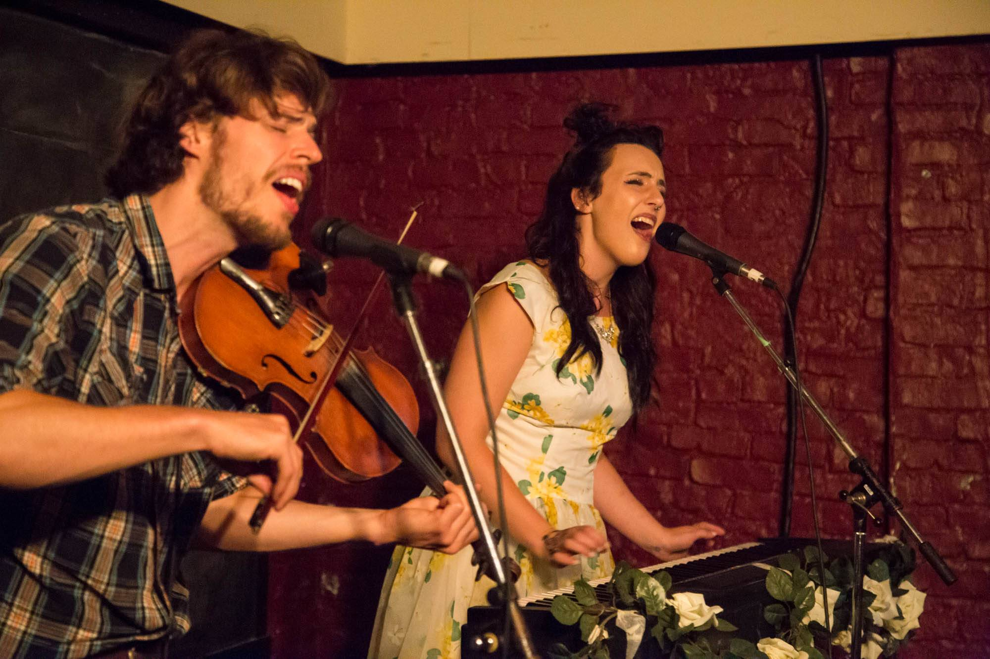 Sarah Jickling and her Good Bad Luck at the Emerald Supper Club, Vancouver, July 13 2017. Kirk Chantraine photo.