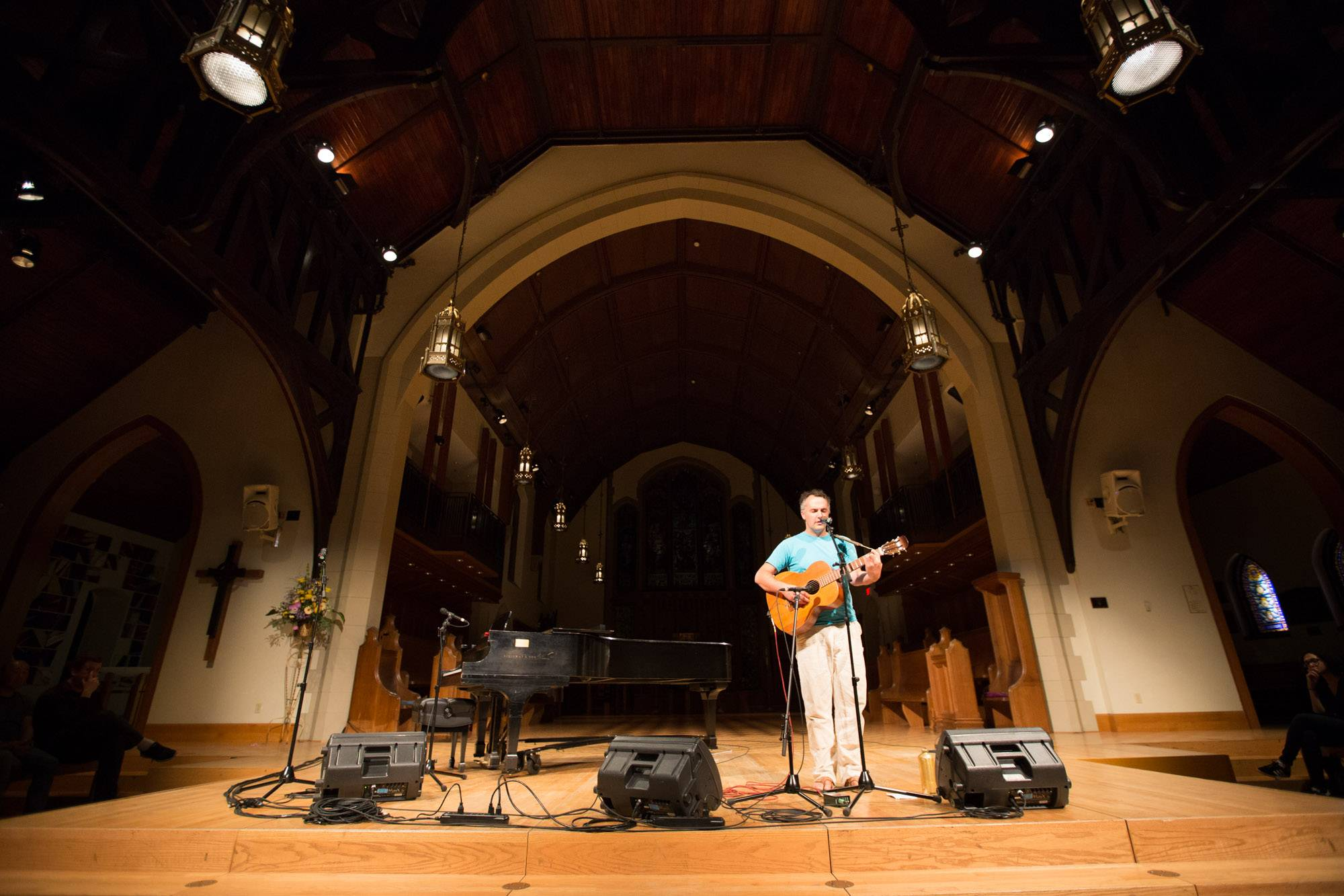 Mount Eerie at the Christ Church Cathedral, Vancouver, Aug 18 2017. Kirk Chantraine photo.