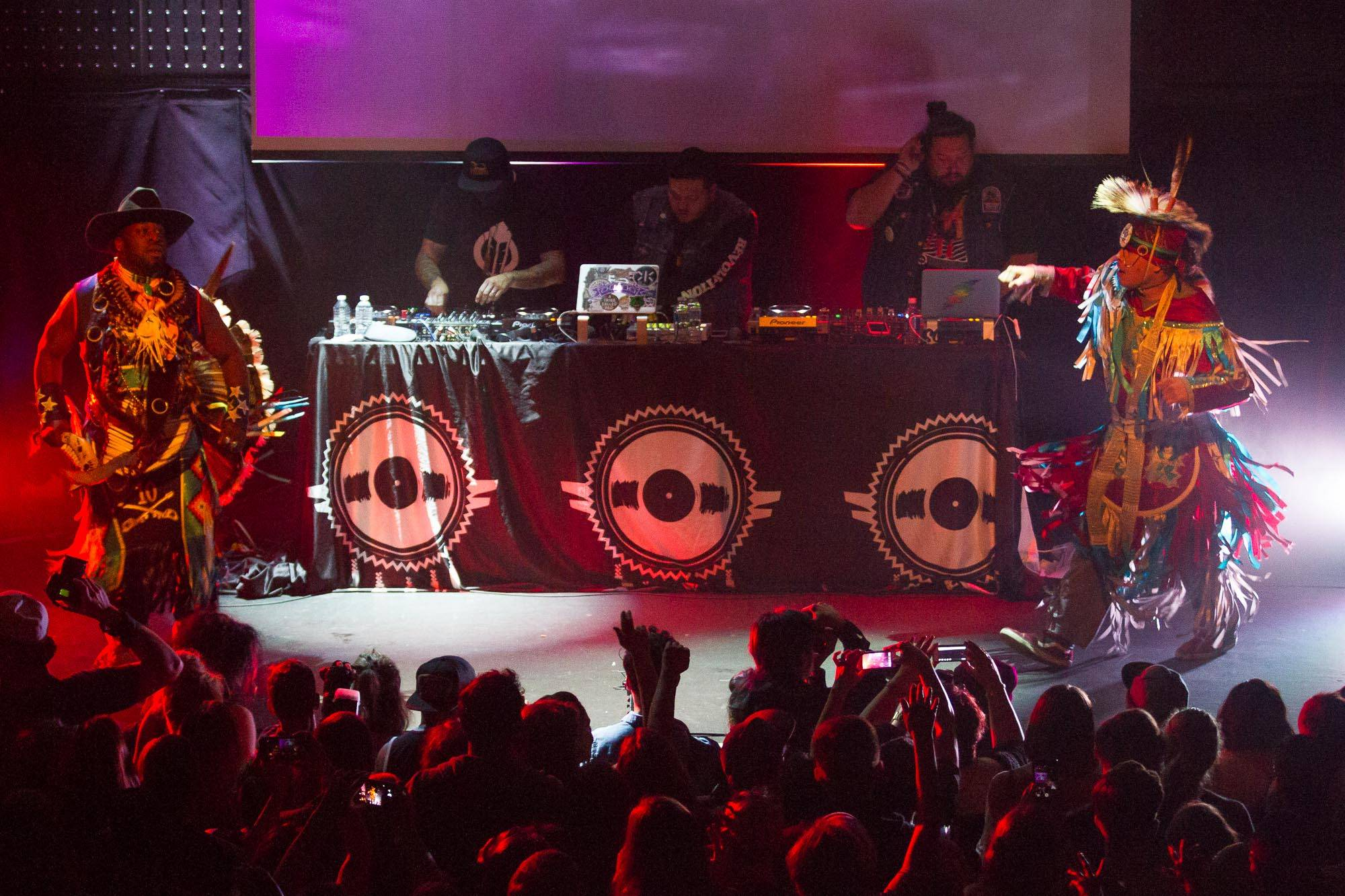 A Tribe Called Red at Venue, Vancouver, Sept 17 2017. Jessica Vandergulik photo.