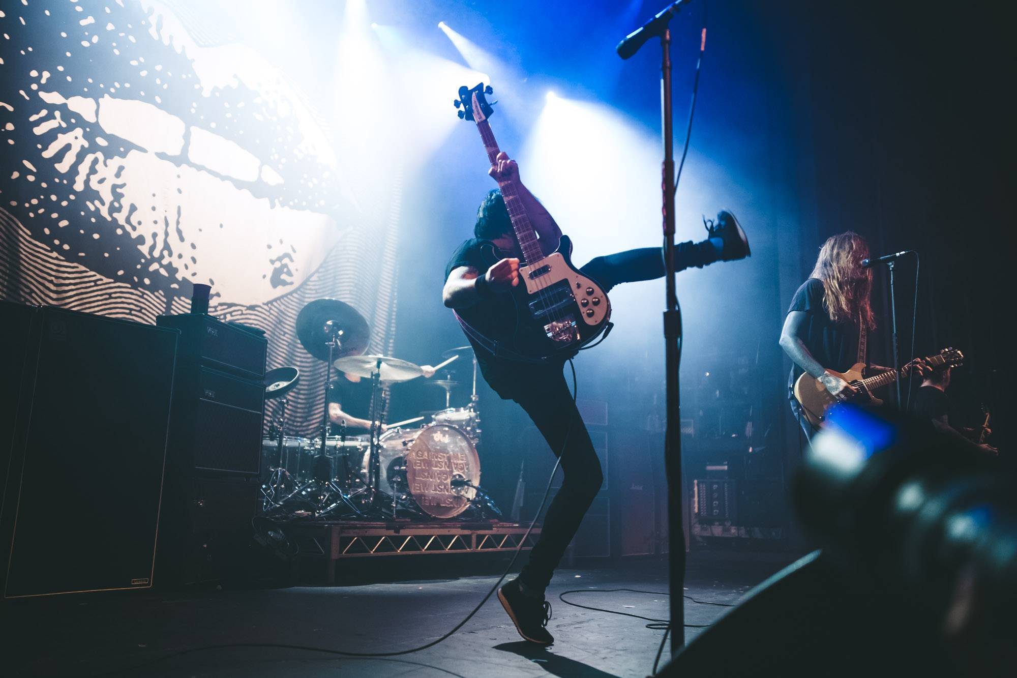 Against Me! at the Vogue Theatre, Vancouver, Sept 8 2017. Kelli Anne photo.
