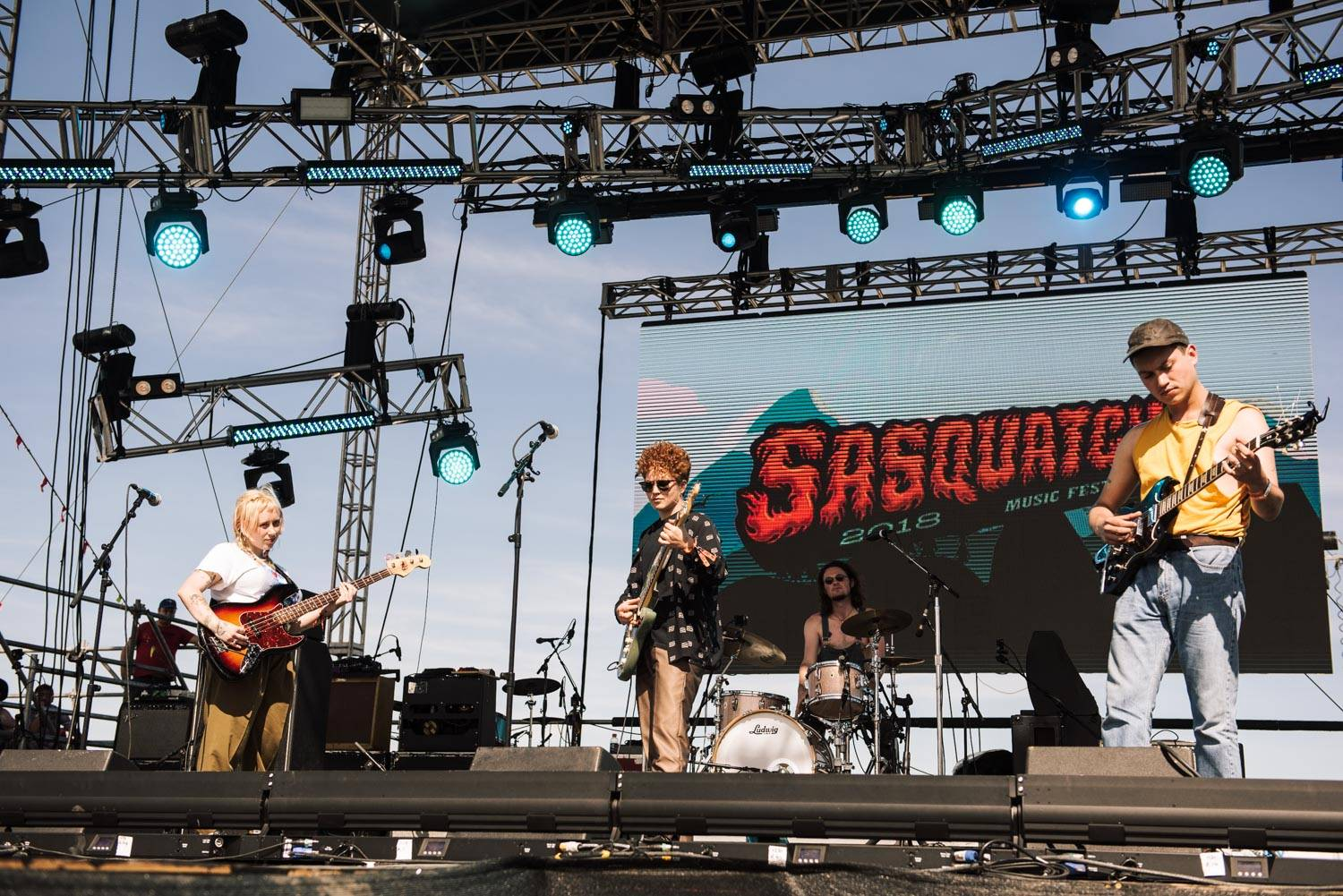 Girlpool at the Sasquatch Music Festival 2018 - Day 1, Gorge WA, May 25 2018. Pavel Boiko photo.