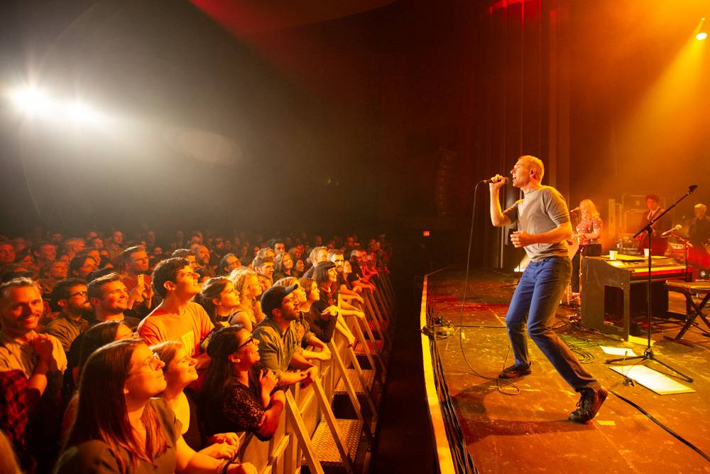 Belle and Sebastian at the Vogue Theatre, Vancouver, 2018 June 29. Kirk Chantraine photo.