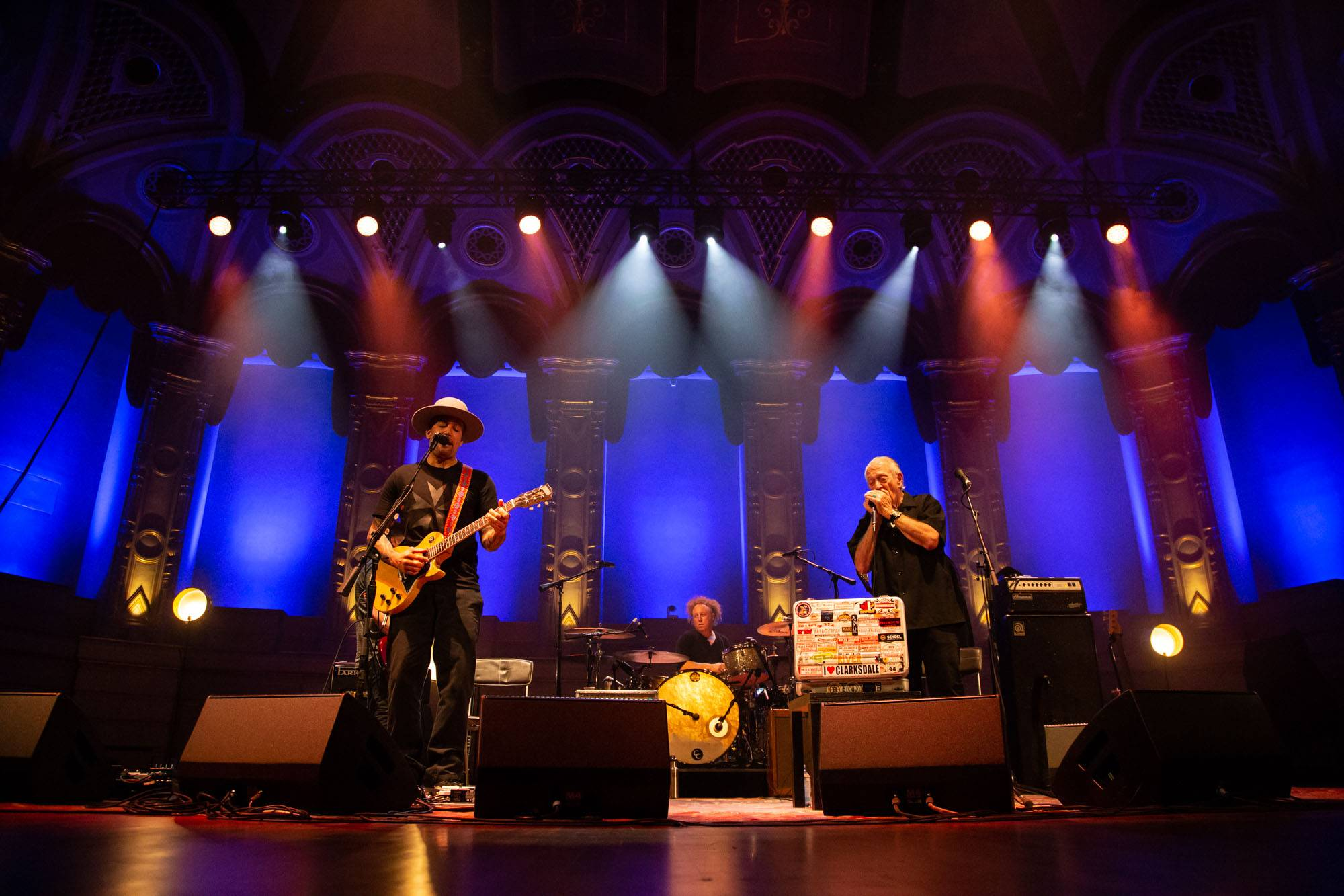 Ben Harper and Charlie Musselwhite at the Orpheum Theatre, Vancouver, Aug 23 2018. Kirk Chantraine photo.