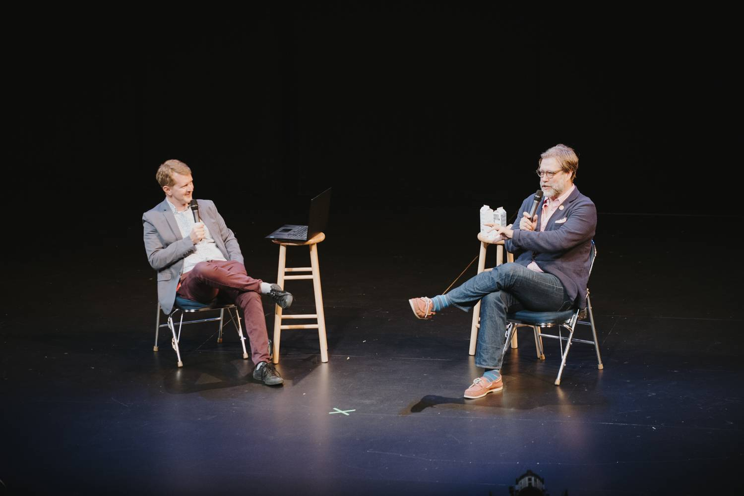Ken Jennings and John Roderick at the Bumbershoot Music Festival 2018 - Day 2. Sept 1 2018. Pavel Boiko photo.