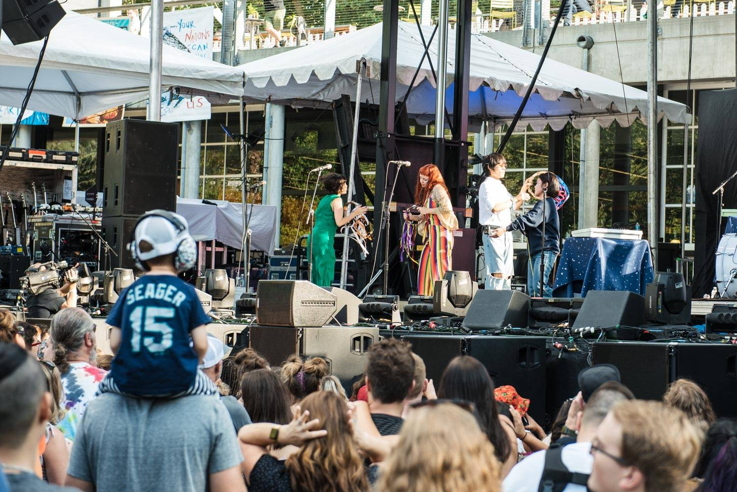 Superorganism at the Bumbershoot Music Festival 2018 - Day 2. Sept 1 2018. Pavel Boiko photo.