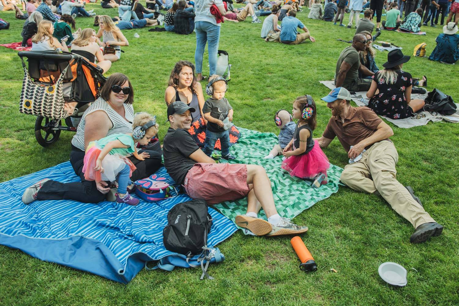 Music Fans at the Bumbershoot Music Festival 2018, Seattle WA, Sept 2 2018. Pavel Boiko photo.
