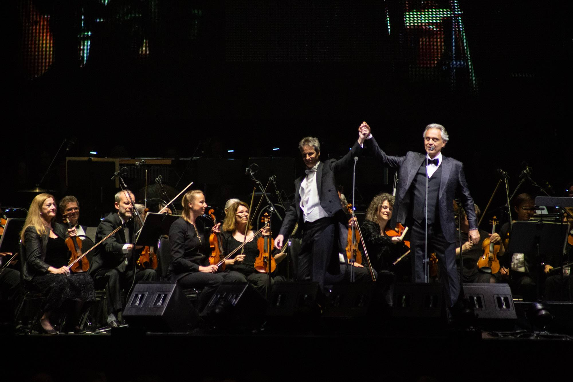 Andrea Bocelli at Rogers Arena, Vancouver, Jun 13 2019. Kirk Chantraine photo.