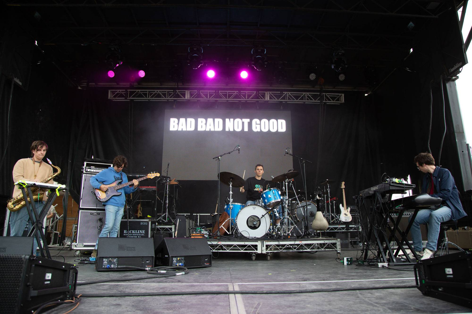 Badbadnotgood at The Park Show, Vancouver, Aug 10 2019. Kirk Chantraine photo.
