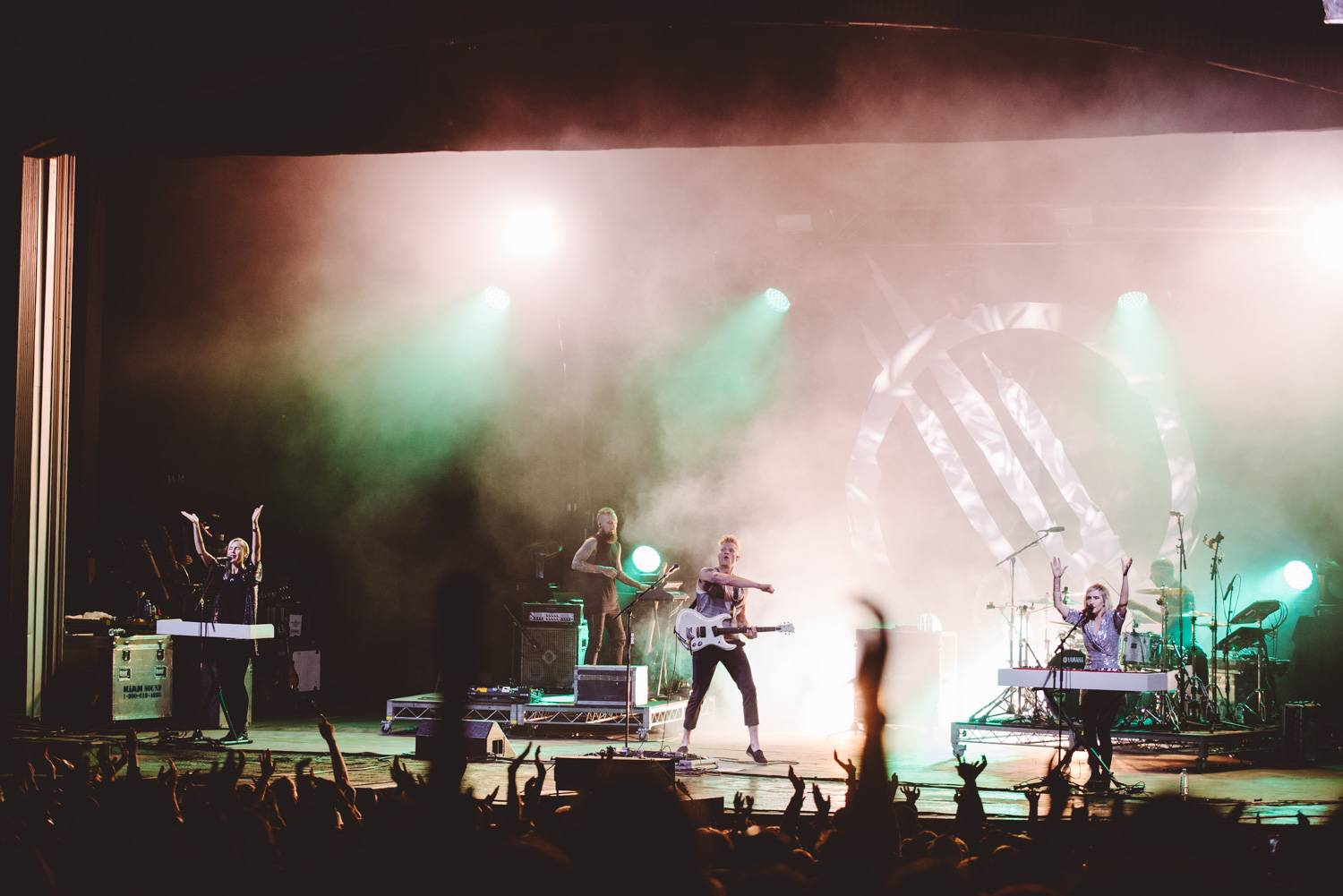 Mother Mother at the Malkin Bowl, Vancouver, Sept 21 2019. Pavel Boiko photo.