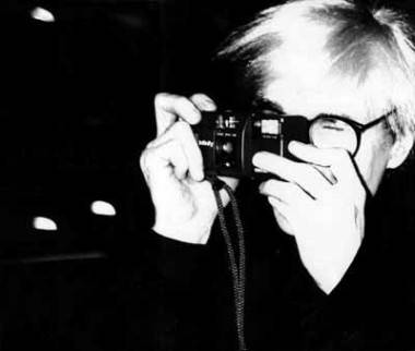 Andy Warhol with camera image.
