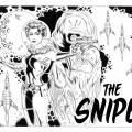 spacegirl and alien illustration for The Snipe News