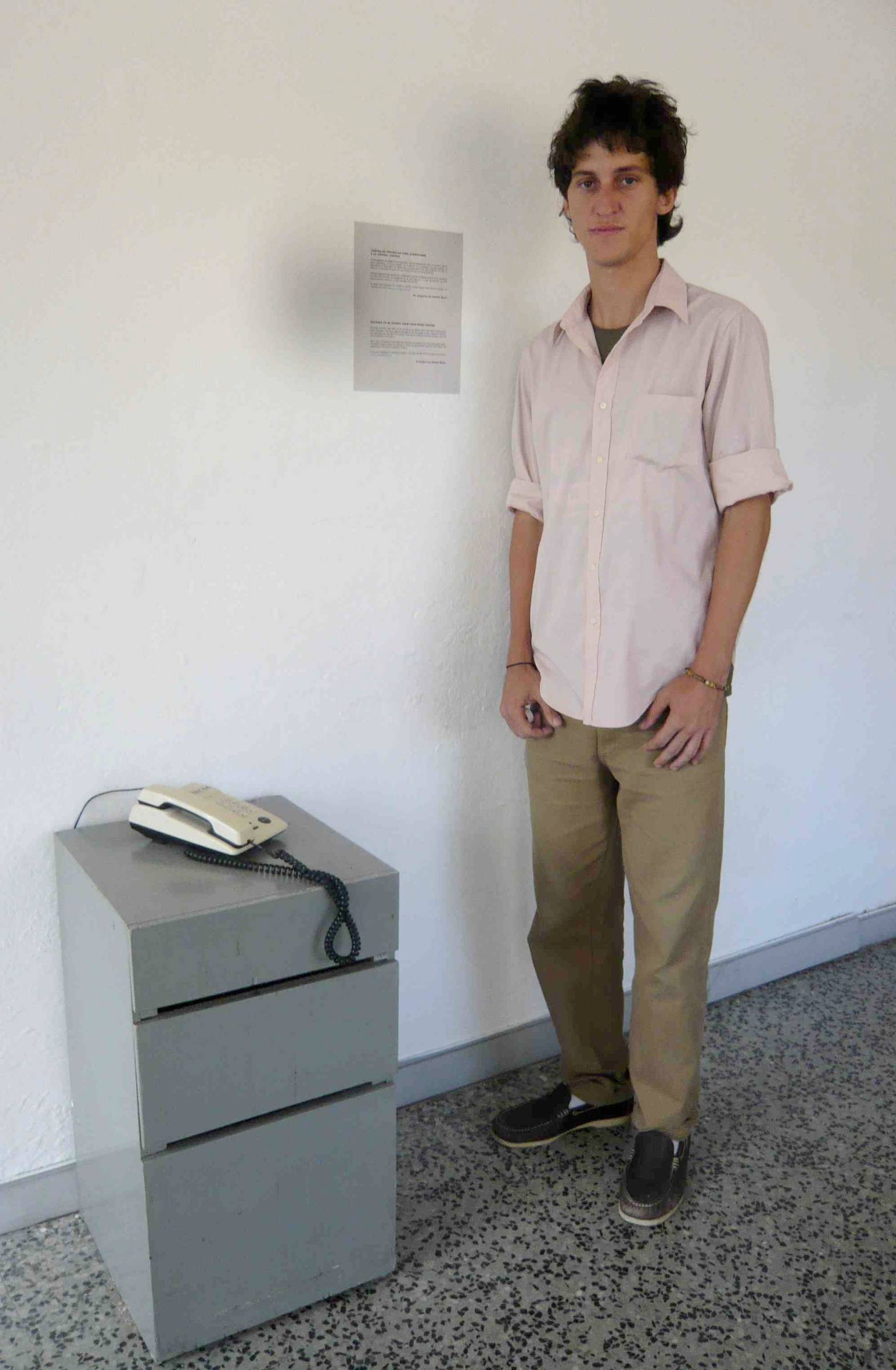 Artist at Havan Biennale 2009.