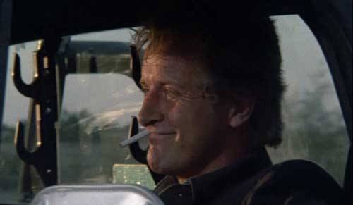 Rutger Hauer in The Hitcher movie image.