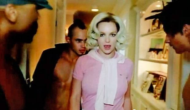 """Britney Spears in her """"If You Seek Amy"""" music video."""